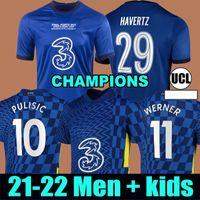 Chelsea CFC Champions Finals PULISIC ZIYECH HAVERTZ KANTE WERNER ABRAHAM CHILWELL MOUNT JORGINHO maglia da calcio 2022 2021 maglia da calcio GIROUD 22 21 uomini + kit per bambini