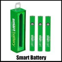 Smart Battery 510 Thread Threat Bateria Vape Pais Pré-aqueça Bateria EGO T Variável Voltagem para SmartCart Espesso Oil Vaporizador Caixa de Penga Embalagem DHL