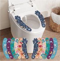 Klozet Minder Çıkartmalar PVC Yıkanabilir Banyo Yapıştırıcı Aniaml Baskılı Kullanımlık Yastık Kapak Paster Ev gereçleri OWA7508