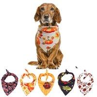 Dog Apparel Pet Polyester Bandana Washable Decoration Scarf Handkerchief Bibs For Thanksgiving