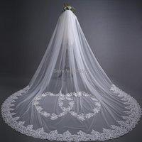 Voiles de mariée Superbe dentelle de mariage de tulle à une couche avec un peigne QY