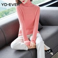 Women's Sweaters 6Colors 100% Wool Knitted For Women Turtleneck High Elastic Ladies Jumpers Woman Pullovers Woolen Clothes