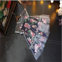أطفال مصممين الفتيات اللباس الرباط الأزهار المطبوعة ملابس الطفل الأميرة اللباس لفتاة الصيف فتاة الملابس vestidos QZ01 539 Y2