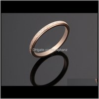 Jewelry 2Mm Width Simple Band Matte Polish Gold Black Titanium Sier Stainless Steel Rings For Women Drop Delivery 2021 Ra0Y9