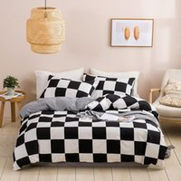 Bedding Sets Luxury Set King Size Home Textile 100% Polyester Geometry Pattern Quilt Cover With Pillowcase