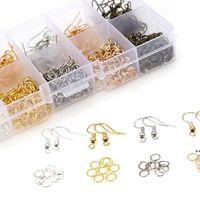 Ear Hooks Single Circle Earrings Diy Material Handmade Accessories Bag Set Storage Boxes & Bins LJD9923