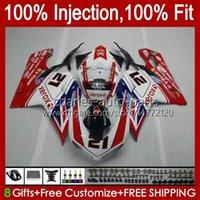 Carrosserie voor Ducati 848 White Black 1098 1198 S 07 08 09 10 11 848R 1098R 75NO6 848S 1198R 1098S 1198S 2007 2008 2009 2010 2011 Fairing Kit