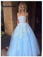 Quinceanera Dresses Vestidos De 15 Anos Ruffles Sky Blue Lace Luxury Debutante Gowns Girls Sweet 16 Dress