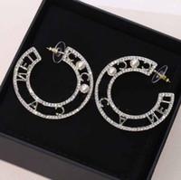 2.5cm에서 최고 품질의 절반 둥근 모양 * 다이아몬드와 진주를 가진 4.2cm 여성 웨딩 쥬얼리 선물 무료 배송 PS3685