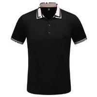 Herren Designer Polo T shirts Sommer Kurzarm Tshirts T-shirts Umklopfen Kragen Baumwolle Gestickte Brief Gestreifte Polos für Männer