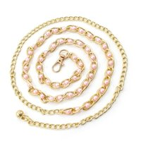 Belts Fashion Imitation Pearl Beads Thin Waist Belt Elegant Ladies Metal Chain Slim Women Waistband Strap Dress Accessories Adult