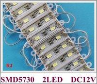 36mm * 09mm * 04mm SMD 5730 LED Módulo de la publicidad Módulo de luz de la luz de la luz de fondo DC12V 2LED 0.6W 60lm impermeable alto brillante CE