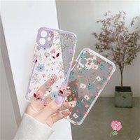 Flower Leaf Case For iPhone 12 11 Pro Max 8 7 Plus X XS Max XR Cute Transparent Soft TPU Back Cover