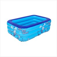 Printed 3-Layer Outdoor Inflatable Swimming Paddling Pool Yard Garden Family Kids Play Water Entertainment Products & Accessories Wear-resistant PVC Bubble Bottom