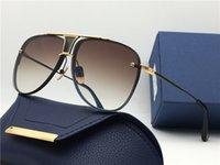 Clássico piloto óculos de sol ouro / marrom 20th aniversário Sonnenbrille moda óculos de sol Mens óculos Unisex Novo com caixa