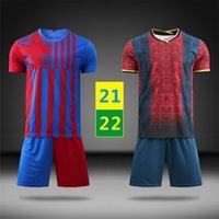 EE.UU. FAST 2021 Home Jersey Fútbol Use Uniformes de niños Capacitación T Shirts Conjuntos 2022 de distancia Maillots Niños Fútbol Fútbol de manga corta Trajes de manga corta 22 con logo # BSZ-21B1