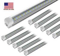 25pcs 8ft 150w SMD5730 2 3 4 5 6 8FEet LED 튜브 조명 V 자 모양 라이트 더블 행 통합 LED T8 냉 270도 빔 각도 전구