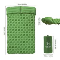 Outdoor Pads Double Cushion Fast Inflatable Bag Camping Tent Moisture-proof Sleeping Pad Mattress Hiking Travel Accessory