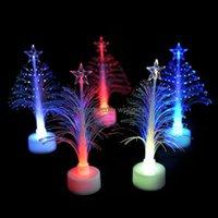 Natal festivo festivo suprimentos gardenchristmas decorações led colorido luzes decorativas-acima cor de fibra mini árvore acrílica noite luzes
