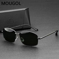 Mougol 2021 Nuevo clásico retro gafas de sol polarizadas hombres rectángulo gafas de sol marco de aluminio UV400 gafas masculinas