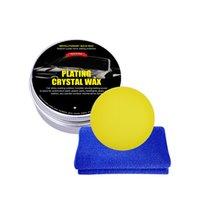 Crystal Plating Car Wax Set Carnauba For Hard Glossy Paint Care Coating Tiny Scratch Repair Sponge Towel Maintenance