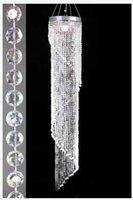 아크릴 크리스탈 웨딩 센터 피스 장식 패션 패션 럭셔리 아크릴 크리스탈 웨딩 도로 리드 180cm / 120cm 길이 30cm / 20cm 직경