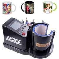 Free Ship Custom Mug Printer Pneumatic Automatic St -110 Sublimation Mug Heat Press Machine