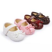 Zapatos recién nacidos Zapatos de niña bebé zapatos para niños pequeños 0-12m Princess Mocasines Suave First Walker Zapato Calzado infantil Regalo B4086