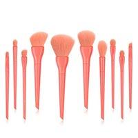 Set di spazzole di trucco di lusso 10pcs set per la polvere di fondazione Blush Eyeshadow Concealer Eye Eye Makeup Brush Cosmetics Beauty Tool