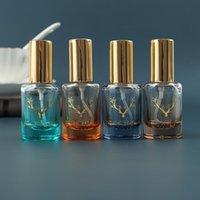 Storage Bottles & Jars 12ML Nordic Bronzing Semi-permeable Perfume Dispensed Spray Car Essential Oil Ornaments Empty Bottle 50PCS LOT