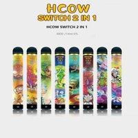 HCOW Switch Disposable E Cigarette 2IN1 Vape Pen Stick 4800 Puffs 1900mAh Battery Pre-filled 14ml 6% Level VS Bar Flow XTRA Plus XL Gunnpod Hyppe MK High Pro