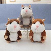 Talking Hamster Fare Pet Peluş Oyuncak Sevimli Ses Kayıt Hamster Konuşma Kayıt Fare Dolması Peluş Hayvan Çocuk Oyuncak 200 adet
