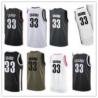 Пользовательские 2020 серые трикотажные трикотажные изделия из чистого стиля черная белая зеленая серая армия зеленый 33 алленКраббе Баскетбол Джерси