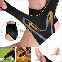 Andkle Safety Athletic Открытый AS Outdoorsakele Поддержка Регулируемая правая левая ножная каблука Protector Brace Guard Спорт Футбол Баскетбол