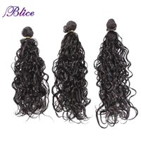 """Human Ponytails Blice Synthetic Water Wave Hair Extensions 3pcs pack Dark Brown High Temperature Fiber 18"""" 20"""" 22"""" Weft Bundles For Women"""