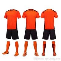Özelleştirilmiş Futbol Takım Elbise Set Kısa Kollu Yetişkin ve Çocuk Işık Kurulu Jersey Erkekler Ve Kadınlar Öğrenci Sınıfı Giyim Takım Üniforma Eğitim Sürükle