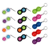 Push Bubble Simple Dimple Key Ring Fidget Pop Toys Keychain Party Kids Adult Novel Squeeze Bubbles Puzzle Finger Fun Game Fidgets Toy Stress Relief