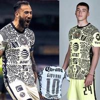 Homens + Crianças 2020 Liga MX Club América Jersey 20 21 CA Uniformes Peralta P.Aguilar Dominguez S.Romero Sambueza Camisa de Futebol
