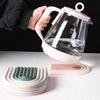 Радуга силиконовый горшок накладки коврик кухонная термостойкая пластина PAD дома столовая изоляция прокладка против горячей чаши коврики RRD7502