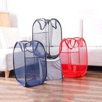 Faltbare Mesh Wäschekorb Kleidung Lagerung Liefert Waschkleidung Wäscherei Tasche Hamper Aufbewahrungstaschen BWE8684
