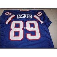 668 Steve Tasker # 89 Dikişli Dikişli Ev Retro Jersey AFC Şampiyonu Tam Nakış Jersey Boyutu S-4XL veya Özel Herhangi Bir Ad veya Number Jersey