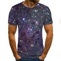 Galaxy Space Pattern Impresión 3D Camiseta 3D Estilo de verano Casual Estilo de moda T-shirt de manga corta Camisa para hombre Tela de calle de arte