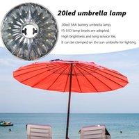 Emergency Lights 20 LED Patio Umbrella Light Garden Outdoor Campsite Night Lamps Cordless Tent Pole Lamp Parasol For Beach Restaurant
