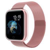Nuove Donne Impermeabile Smart Watch T80 / P70 Bluetooth Smartwatch Smartwatch cardiofrequenzimetro Fitness Tracker Guarda Guarda Banda # 015