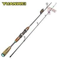 Yuanwei 1.8m 1.98m 2.1 m 2.1M Spinning Canna da pesca 2 Sezione L / UL Power Fibra di carbonio Manico in fibra di carbonio Spinning Lure Rod Super Quality