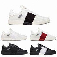 2021 منصة اللون إيطاليا أزياء الرجال النساء المفتوحة مصمم أحذية رياضية شريطية جلد طبيعي شقة عارضة الأحذية 36-45 N2I1 #