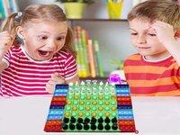 6 Estilo Gran descompresión Fidget Toy Rainbow Fluorescencia China-ajedrez Junta de ajedrez Push Bubble Fidget Toys Sensory Toys Padre-Child Time Interactive Game Regalo 496