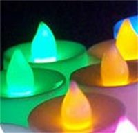 Светодиодная свеча Tealight Беспламенно свеча чай светлый красочный аккумулятор работает лампа на день рождения свадьба вечеринка рождественские украшения 239 S2