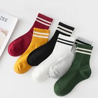 Funny Cute Cotton Loose Striped Crew Socks Women Fashion Colorful Harajuku Designer Retro Long Socks New Year Christmas Gifts