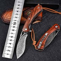 Forged Damascus Vg10 Steel Bearing Folding Knife ParticulateRosewood Handle 26s ZT 0456 MF1 BF3 UT85 BM 3400 4400 Outdoor Hunting Camping Self Defense Pocket Knives